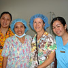Julie with Recovery Room Nurses at Silay Provincial Hospital