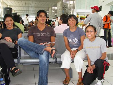 Kathy, Shim Ching, Naomi, and Erin from Utah at domestic airport.