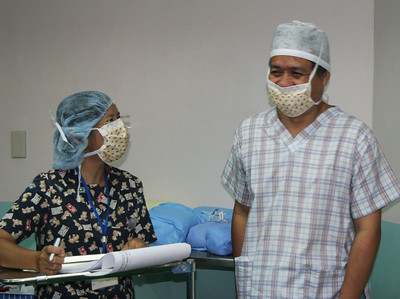 Rey Tajares, head of the local anesthesiologists.