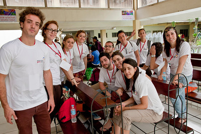 The Spanish team of just-graduated medical students.