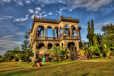 The 'Ruins' in Bacolod. Filipino partisans during WWII burned this villa to prevent the Japanese from using it.