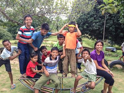 Kids, Village of Hope in Talibon by Nancy Rogers