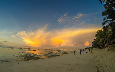Sunrise at Alona Beach