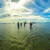 Walking in from the boat, El Nido, Palawan.