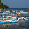 Boats going to the Underground River