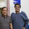 Dr. Mendoza, surgeon and medical director with Vincent Rasalan, 4th yr surgical resident.