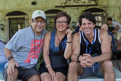 Dean, Lynn, Harlon at the Ruins, Bacolod