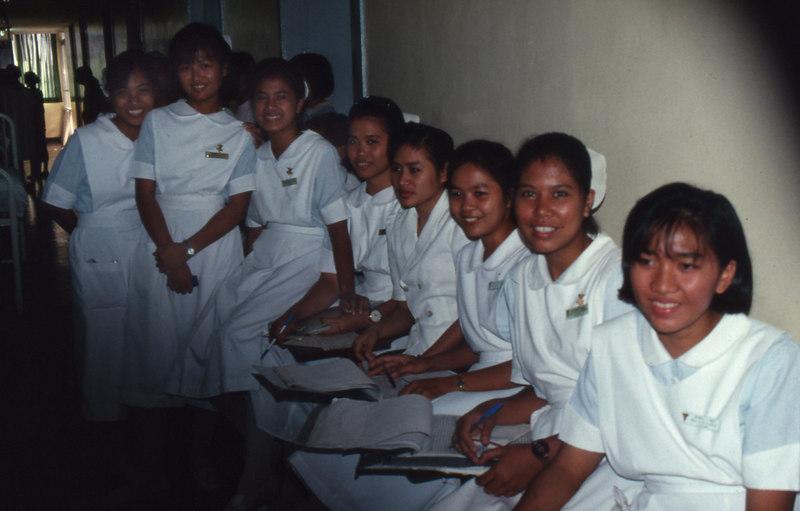 Eager student nurses.