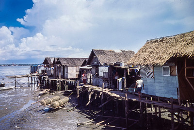 A shanty town outside of Manila