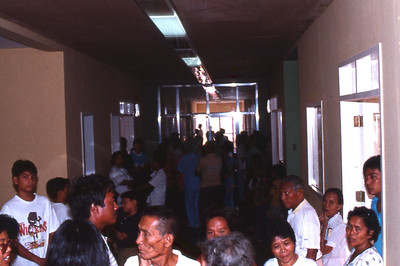 The medical clinic is a massive crowd.