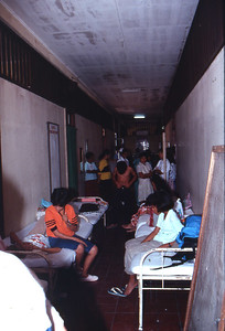 The hallways are used as wards.
