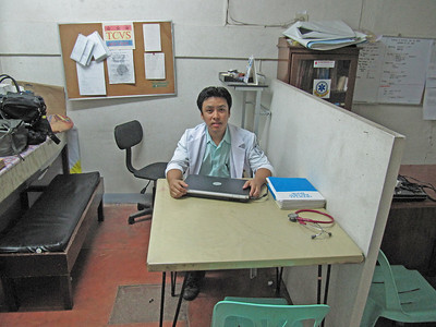 Sachin Shris' office at Vicente Sotto city hospital, Cebu City