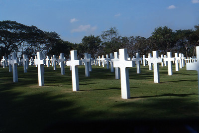 In Manila, we visit the WWII cemetery.