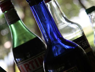 Bottles in a bar near Tacloban.