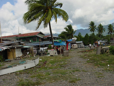 Behind the market in Sogod.