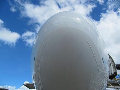 Talibon09 touring nose of plane