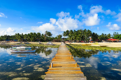 Boats at the pier - General Luna, Siargao