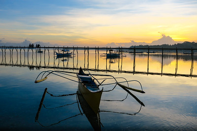Boats at General Luna Pier  -  Siargao Island