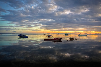 Boats @ Sunset - Bohol island