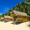 Bahay Kubos (traditional huts) on Daku Island, Siargao