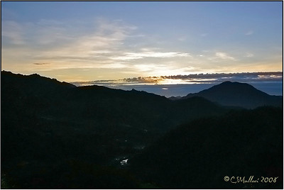 View from our hotel veranda at Banaue Hotel - Beautiful and Calming Dawn