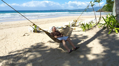 The love of my life enjoing the hammock at the beach :)