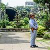 Guard at Puerta Real Garden Intramuros