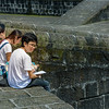Sketching on the Intramuros Wall