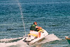 On a jet ski  at  Mactan Island, Philippines, in March 2009
