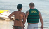 A couple about to board a jet ski  at  Mactan Island, Philippines, in March 2009