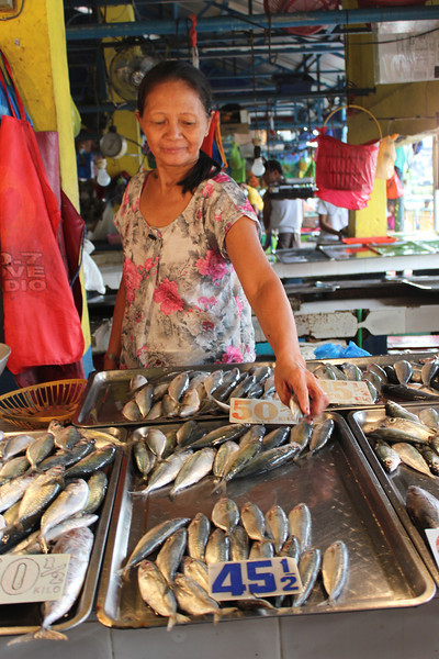 Mary M. Gella and her fish vending business.