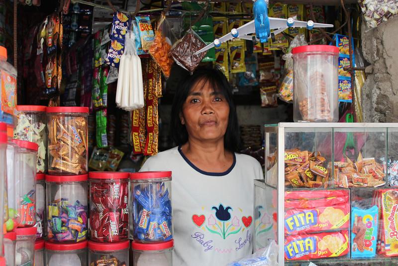 Nanay Risco at her sori sori store