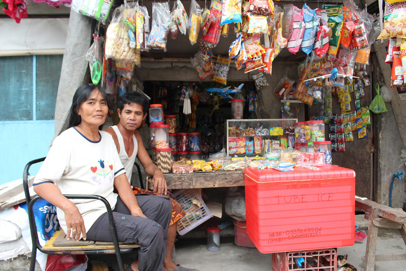 Nanay Risco at her sori sori store