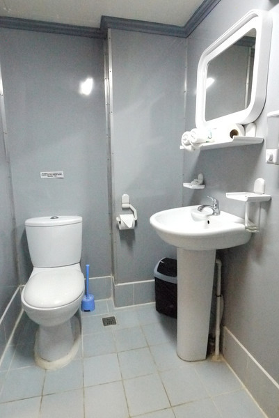 Ensuite bathroom and shower upper deck cabins, Hans Christian Andersen Philippines LIveaboar