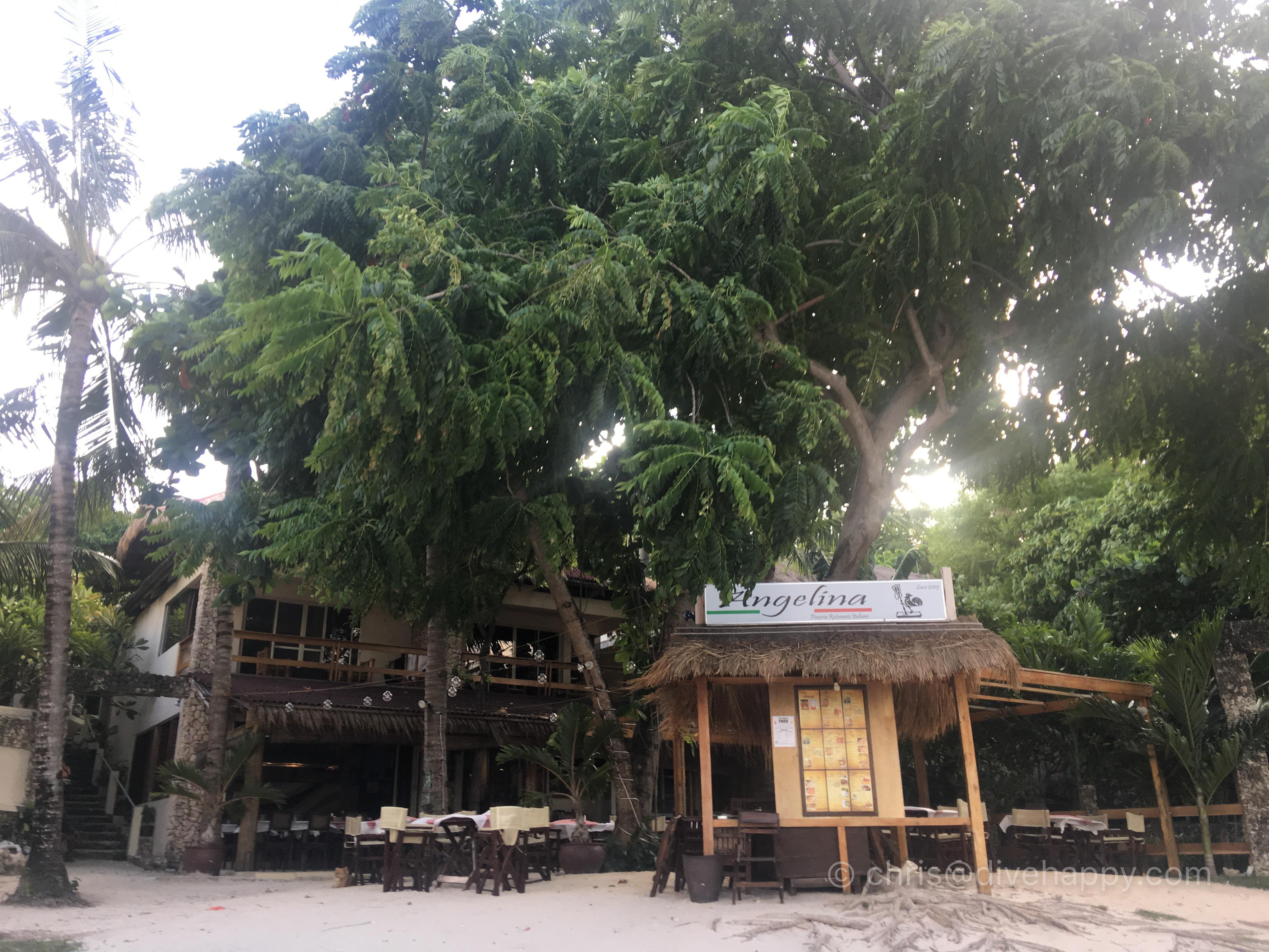 Angelina restaurant, Malapascua