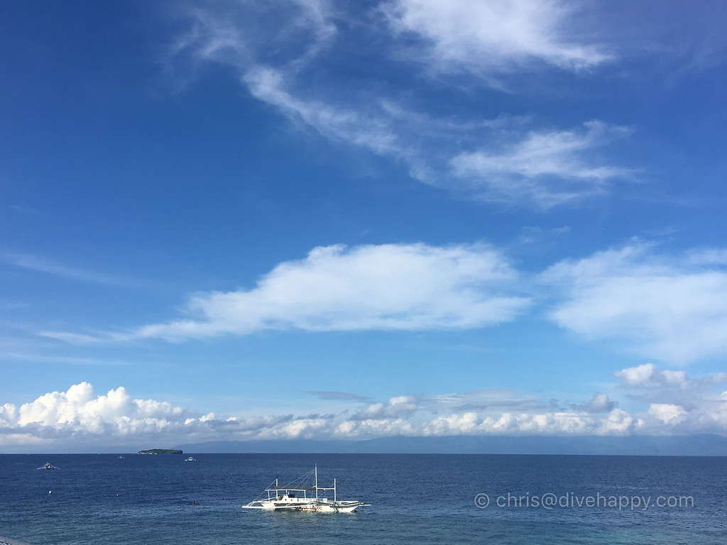 View from Lantaw restaurant - Pescador Island is on the left