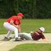 photo Scott LaPrade - Steve Lajoie gets a player out at 2nd base