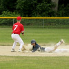 Shrewsbury Tyler Galllini safe into 2nd with Phillies 2nd baseman Steve Lavoie