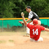 Phiillies Sean Maki safely gets into 2nd base on a steal