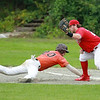 Brennan Cuddahy attempts the tag at 1st<br /> SENTINEL&ENTERPRISE/Scott LaPrade