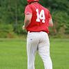 Phillies Sean Maki takes 1st base after being struck by a pitch SENTINEL&ENTERPRISE/Scott LaPrade