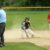 Worcesters #23 upset with the umpires decision about being out at 2nd base.