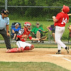 Phillies Sean Maki takes a ball to the back and gets 1st base
