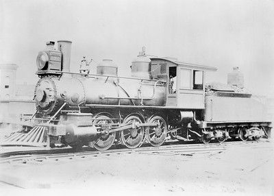 2018.18.FN.001--philip weibler collection 5x7 sheet film neg--CRI&P--steam locomotive 0-6-0 130--Chicago IL--1893 0000