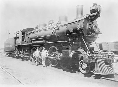 2018.18.FN.013--philip weibler collection 5x7 sheet film neg--CRI&P--steam locomotive 4-6-2 852--location unknown--no date