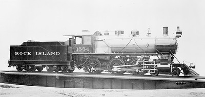 2018.18.FN.016--philip weibler collection 5x7 sheet film neg--CRI&P--steam locomotive 4-6-0 1554--location unknown--no date