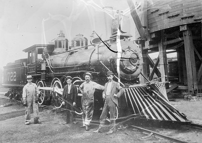2018.18.FN.020--philip weibler collection 5x7 sheet film neg--CRI&P--steam locomotive 2-6-0 722--location unknown--no date