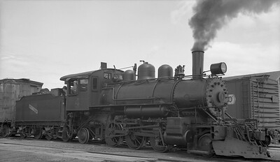 2010.012.N.022--phil weibler collection 116 neg [Robert Hanft]--Laona & Northern--steam locomotive 2-6-2 4--Laona WI--1947 0425