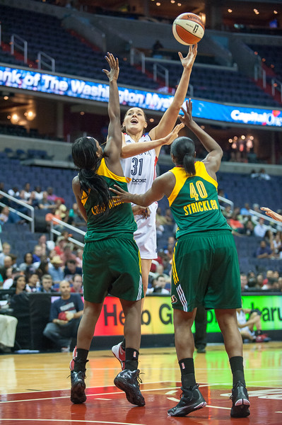 WNBA BASKETBALL: Seattle Storm defeats Washington Mystics 73-65
