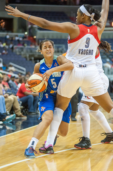 WNBA Basketball 2013: Washington Mystics defeats NY Liberty 70-52